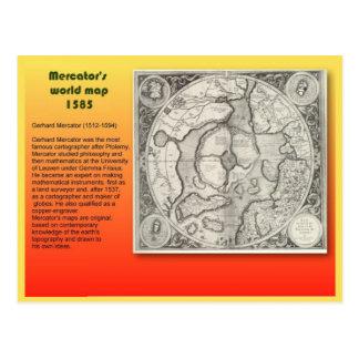 Educación, geografía, exploración, mapas, Mercator Postal