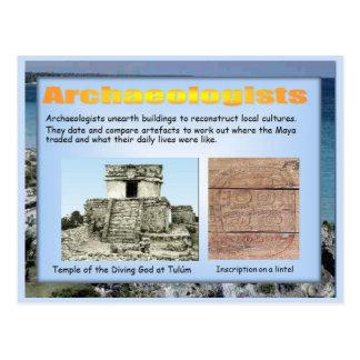 Educación, historia, arqueología maya postales