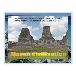 Educación, historia, civilización maya tarjeta postal