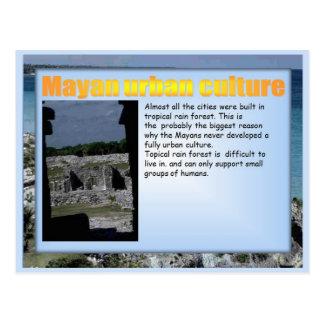 Educación, historia, cultura urbana maya tarjetas postales