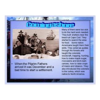 Educación historia en tierra en Nueva Inglaterra Tarjetas Postales