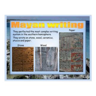 Educación, historia, escritura maya postal