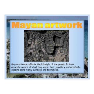 Educación, historia, ilustraciones mayas tarjeta postal