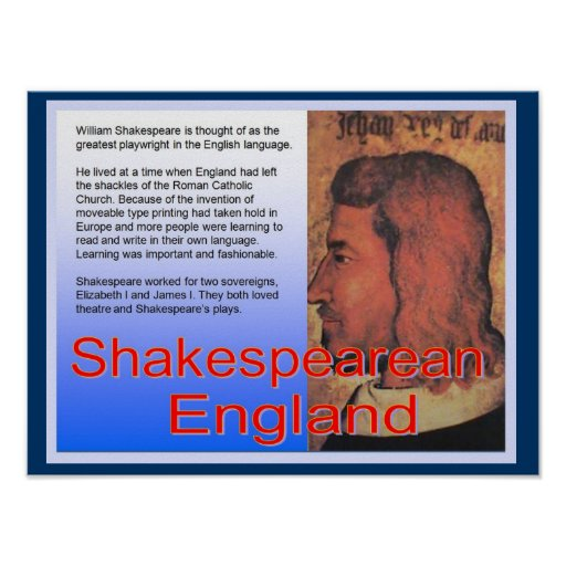 Educación, historia, Inglaterra shakesperiana Poster