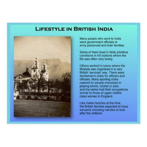 Educación, historia, la India británica Postales