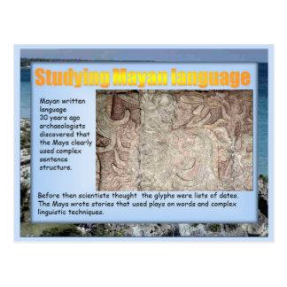 Educación, historia, lengua maya postal