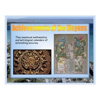 Educación, historia, logros mayas tarjeta postal