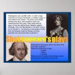 Educación, historia, los juegos de Shakespeare Poster