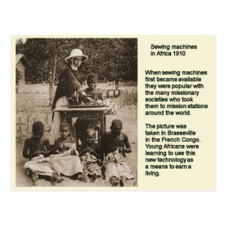 Educación, historia, máquina de coser en África 19 Tarjetas Postales