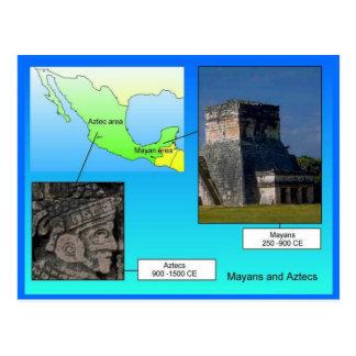 Educación, historia, Mayans y Aztecas Postal