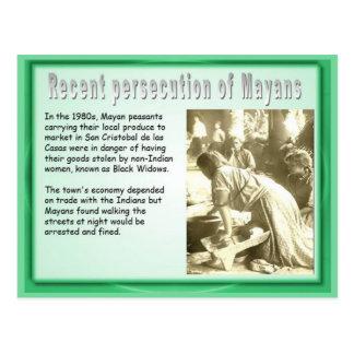 Educación, historia, persecución maya tarjetas postales