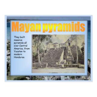 Educación, historia, pirámides mayas postales