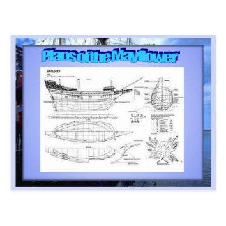 Educación historia planes del Mayflower Tarjeta Postal