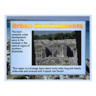 Educación, historia, progresos urbanos mayas tarjetas postales