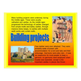 Educación historia proyectos de edificio medieva tarjeta postal