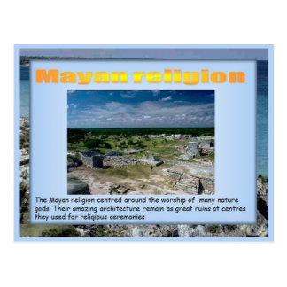 Educación, historia, religión maya tarjeta postal