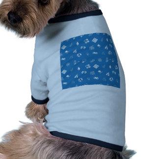 Educación o fondo inconsútil de los temas camiseta de perro