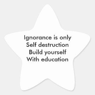 Educación Pegatina En Forma De Estrella