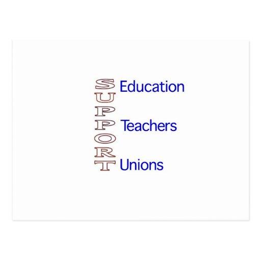 Educación, profesores y uniones de la ayuda postales