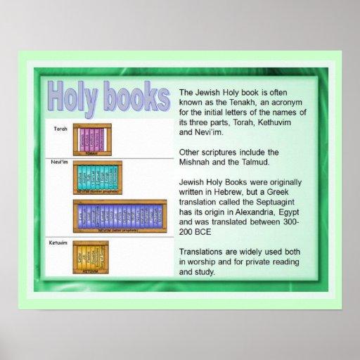 Educación, religión, judaísmo, libros sagrados posters