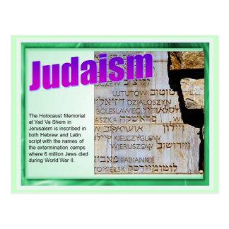 Educación religión judaísmo monumento del holoc postal