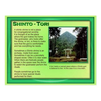 Educación, religión, toros japoneses tarjetas postales