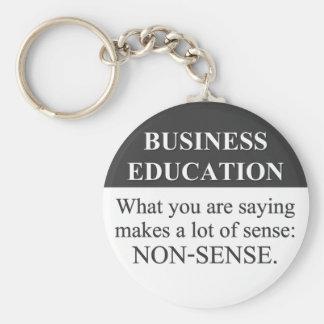 Educación sana del negocio (3) llavero redondo tipo pin
