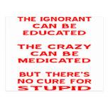 Educado, medicinal, pero ninguna curación para est postal