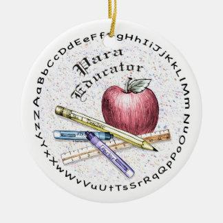 Educador de Para Adorno Navideño Redondo De Cerámica
