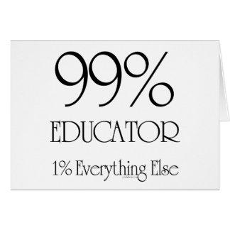 Educador del 99% tarjeta de felicitación