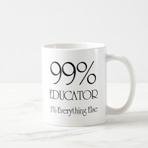Educador del 99% taza básica blanca