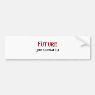 Educador futuro etiqueta de parachoque