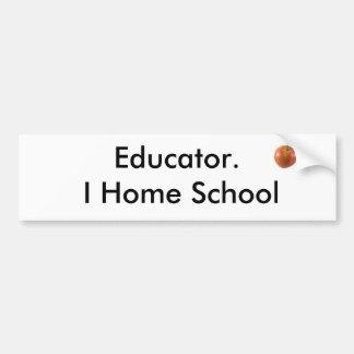 Educador.  I escuela del hogar Pegatina De Parachoque