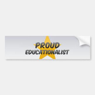Educador orgulloso pegatina de parachoque