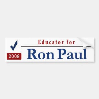 Educador para RON PAUL Pegatina Para Auto