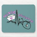 Educador QRS de la enfermera y diseño del casquill Tapetes De Ratón