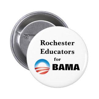 Educadores de Rochester para Obama Pin