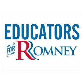 Educadores para Romney Tarjeta Postal