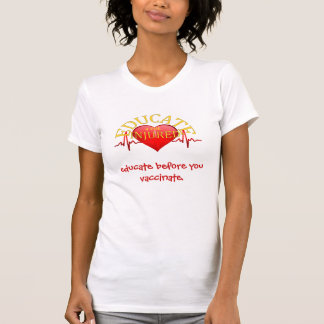 EDUCATE 4 THE INJURED T SHIRT