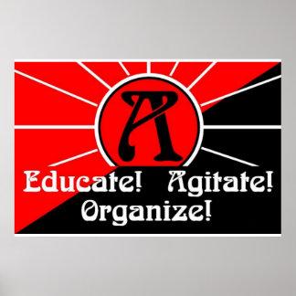 educate agitate organize poster
