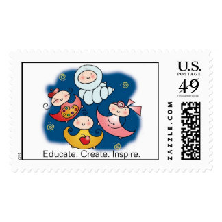 EDUCATE. CREATE. INSPIRE. Postage Stamps