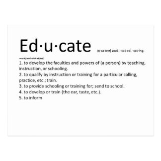 Educate Post Cards