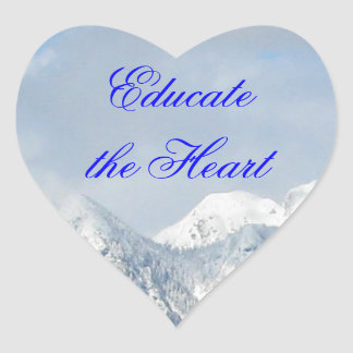 Educate the Heart Sticker