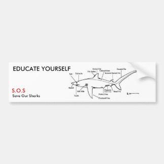 EDUCATE YOURSELF BUMPER STICKER