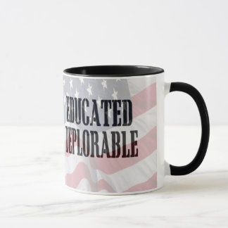 """""""Educated Deplorable"""" coffee cup"""