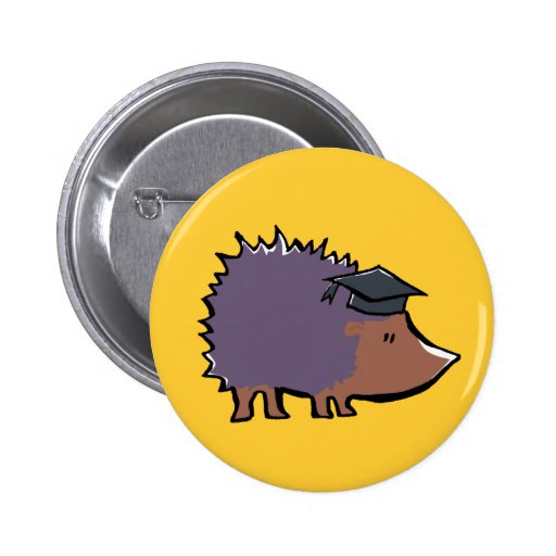 educated hedgehog button