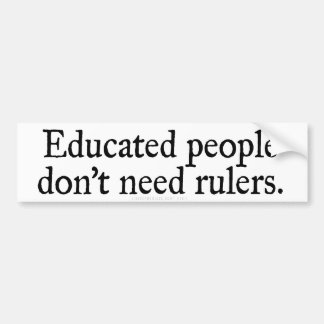 Educated People Bumper Sticker