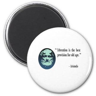 Education Aristotle fridge magnet