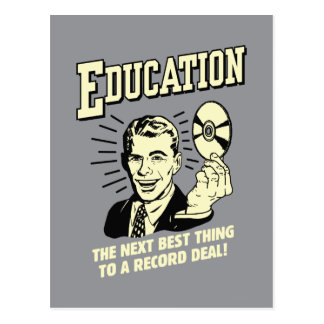 Education: Best Thing Record Deal Postcard