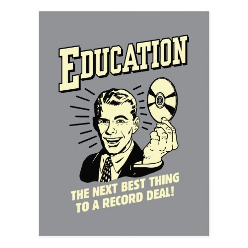 Education Best Thing Record Deal Postcard